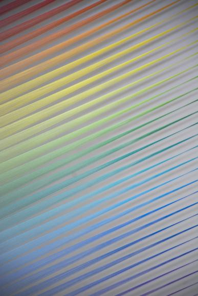 Gabriel Dawe (b. 1973). Plexus no. 34 (detail), 2016. Gütermann thread, painted wood, and hooks. Courtesy of the artist and Conduit Gallery.