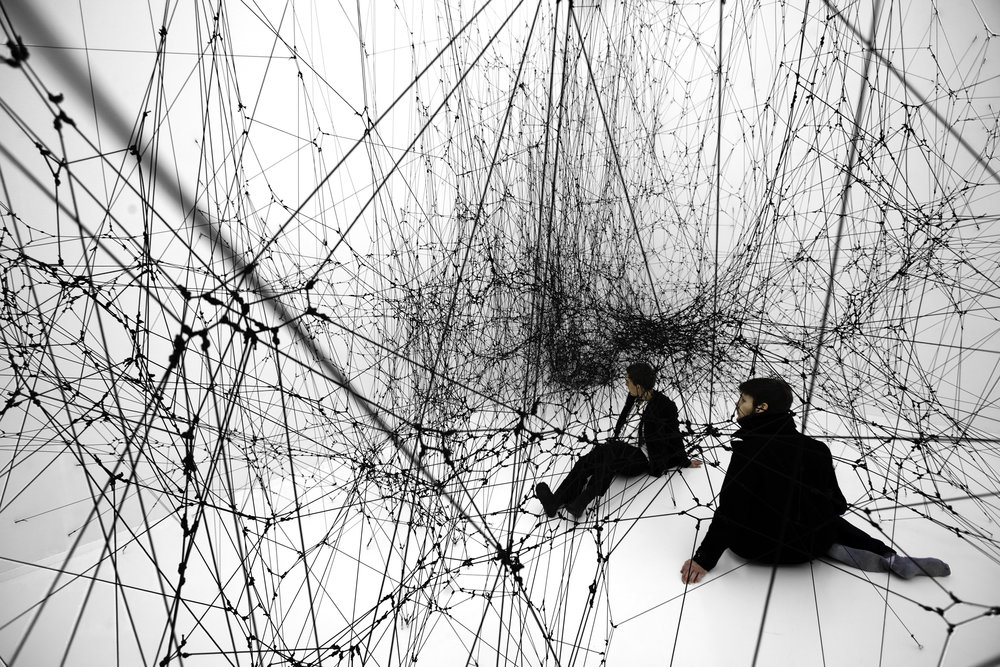 "Tomas Saraceno. ""14 Billions"", 2009 Bonniers Konsthall, Stockholm. Photo: Studio Saraceno."