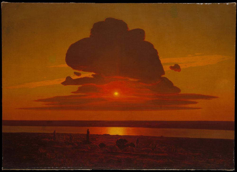 Arkhip Ivanovich Kuindzhi, Red Sunset on the Dnieper, 1905–8. Oil on canvas. Courtesy of the Rogers Fund, 1974.