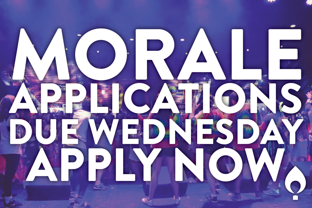 Applications are due THIS WEDNESDAY!