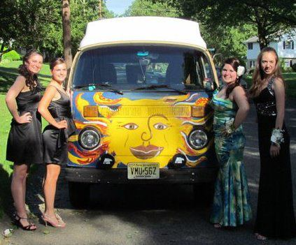 Monro was our ride to the senior prom. Guess who I am. Hint: I'm not wearing black.