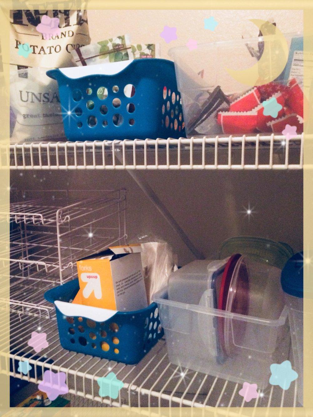 The pantry closet area -