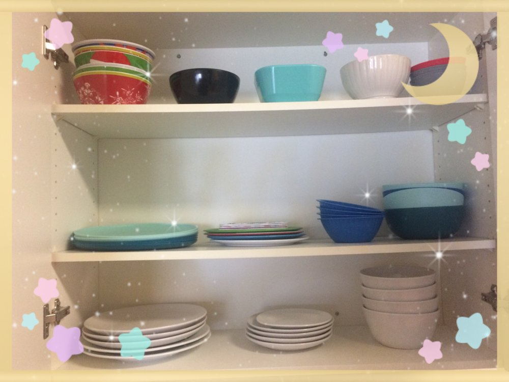 Made a plates and bowl cabinet! -
