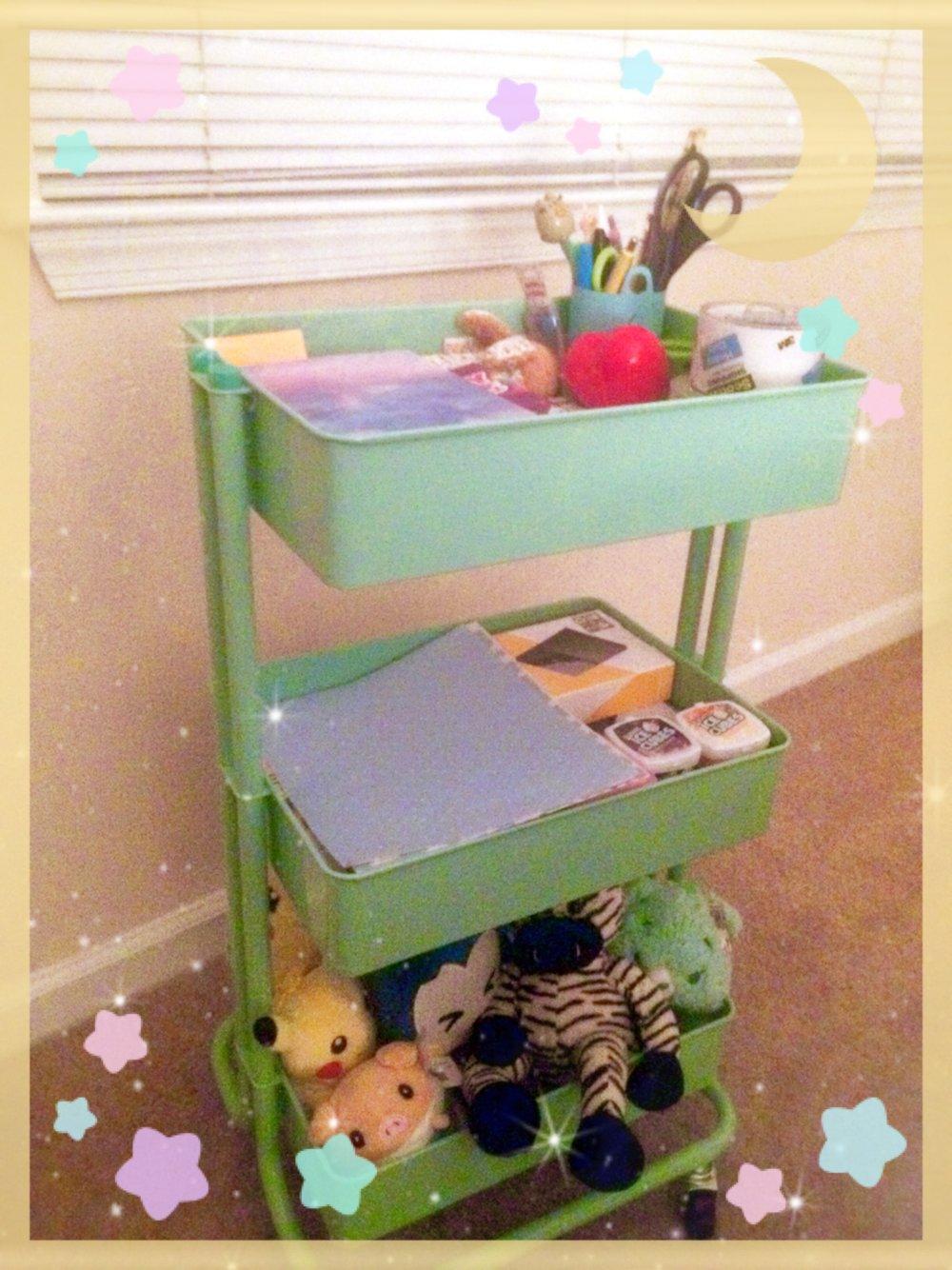 My super cute organization cart  -
