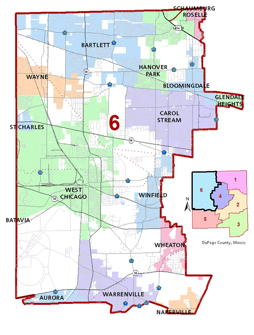 County Board Dist 6 Map