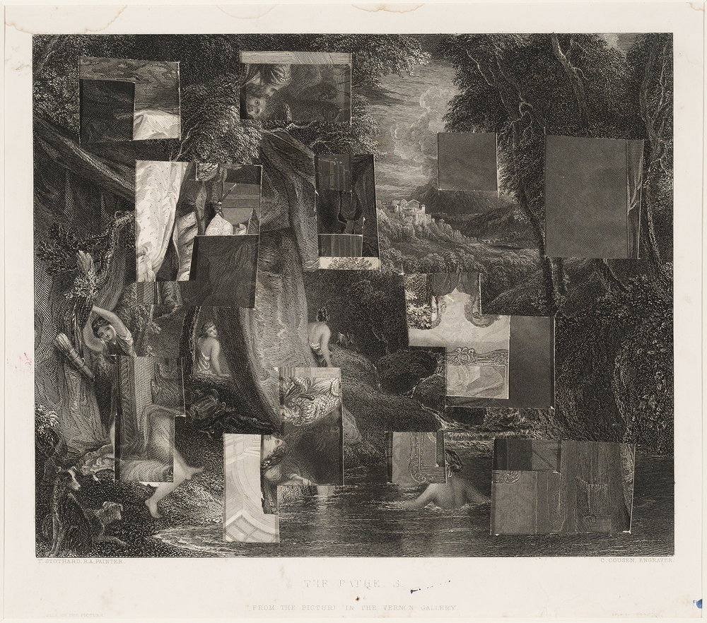Sidney Nolan  The Bather/The Studio/The Waterfall  c.1939 collage of prints from steel engravings 20 x 24 cm Heide Museum of Modern Art, Melbourne Purchased 2012 © Sidney Nolan Trust