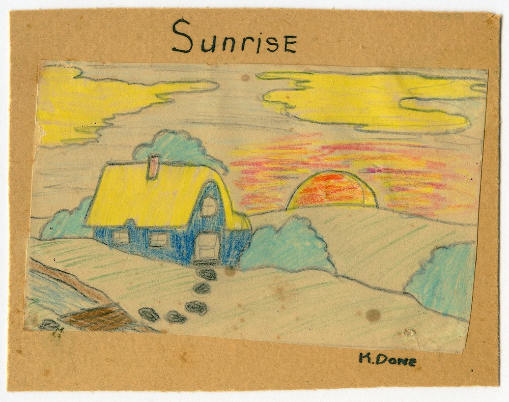 'Sunrise' by Ken Done aged 7