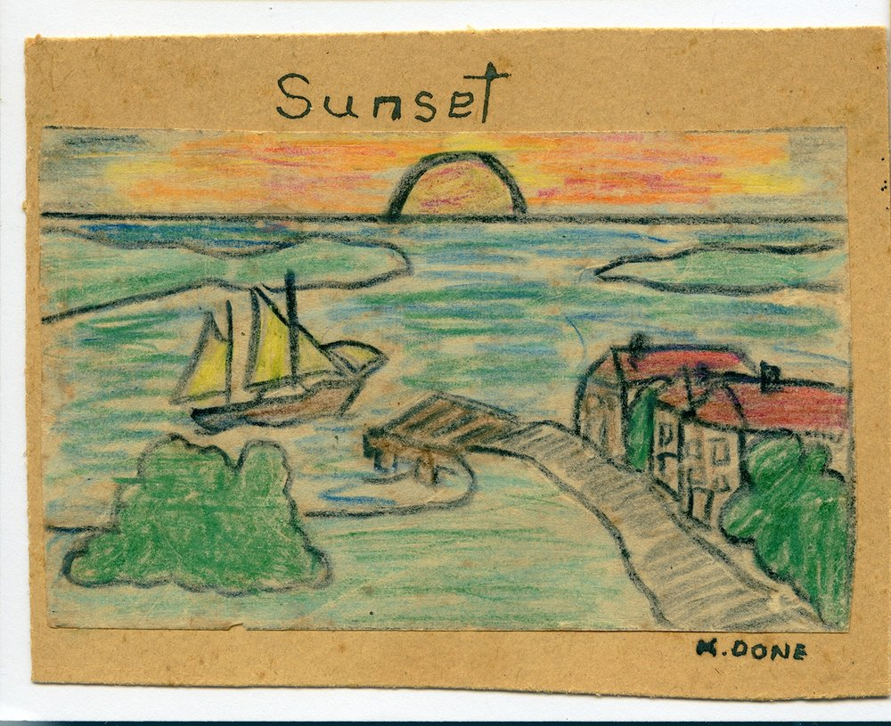 'sunset' by Ken Done aged 7