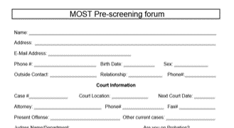 MOST Program Fillable Pre-Screening Form