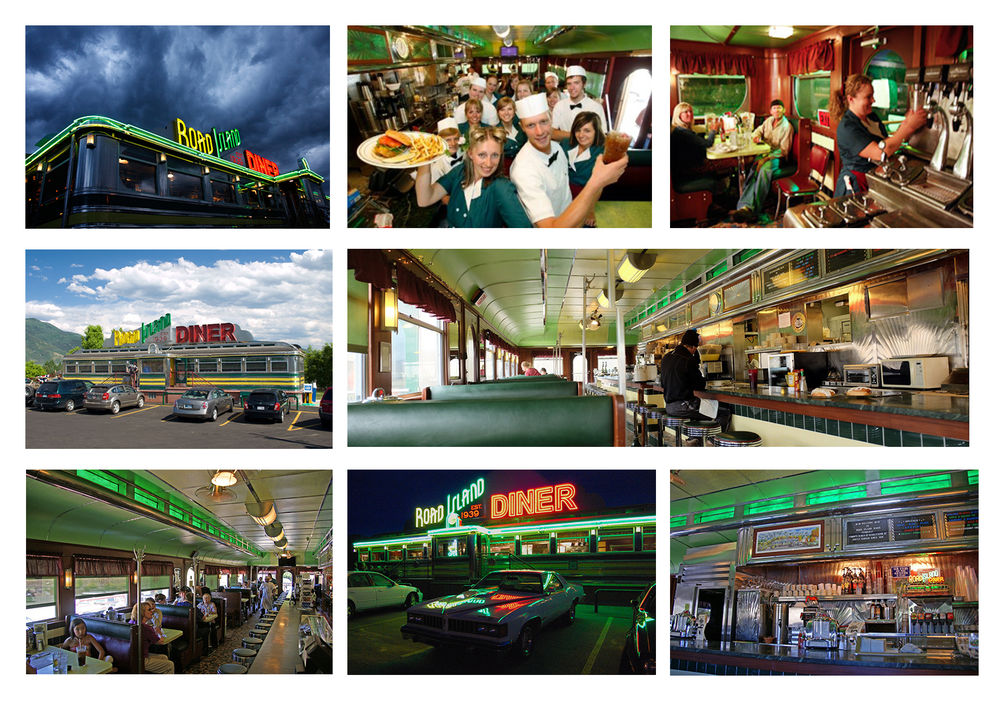 Visual reference of the Road Island Diner in Oakley, Utah.
