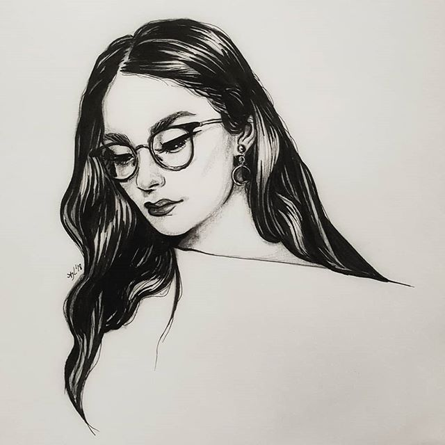 It's amazing what you can accomplish when you concentrate 🖤 Pencil and ink study, referenced from a photo of the lovely @shirinatra . . #inkdrawing #sketch #drawing #blackandwhitedrawing #illustration #slcart #slcartist #ink #blackandwhite