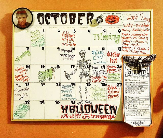 🎃 Finished planning our October event calendar! 🎃 Haunted houses, pumpkin patches, spooky events and more... also, Inktober is starting!!! Are you ready?!?!! . . #halloween #halloweeneveryday #october #halloweenplans #halloween2018