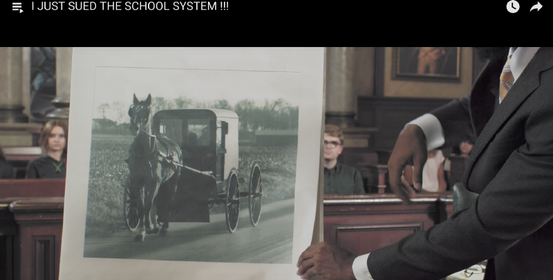 A car from 100 years ago, screen shot from  Prince Ea's YouTube video