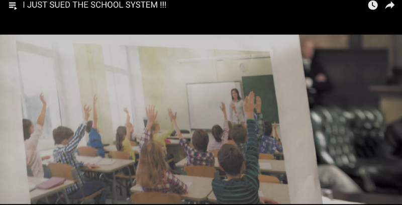 A picture of today's classroom, screen shot from  Prince Ea's YouTube video