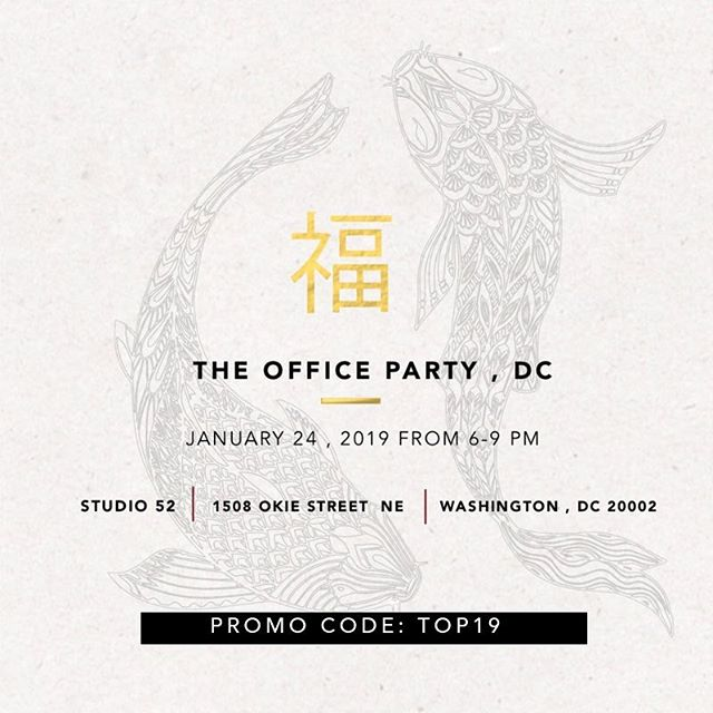 FLASH SALE!! $10 off #TheOfficePartyDC tickets using the TOP19 coupon code!!! Ready, Set, Go!! ______ #savvybusinessowner #mycreativebiz#lifestyleblogger #theinstagramlab#oneofthebunch#communityovercompetition#allthethings#womensupportingwomen #networking#DMV #thedirectory#theentrepreneurjourney#sayyestosuccess #makersgonnamake#support #creatives #ThatsDarling#details #design #makersvillage#dowhatyoulove #branding#communityovercompetition#blackownedbusiness#theofficepartydc #studiodeux