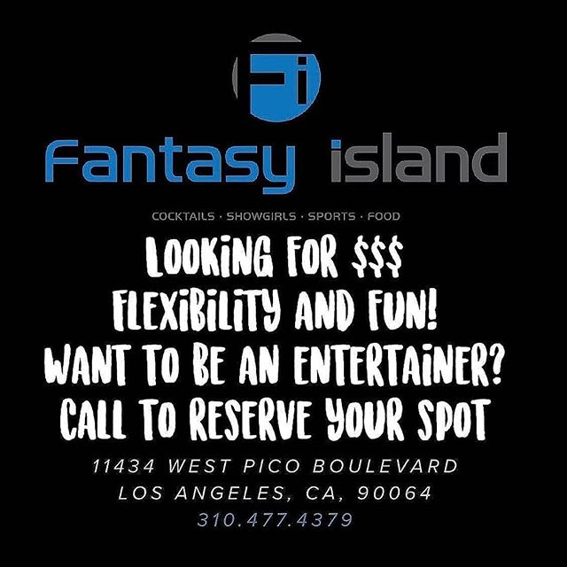 Looking for Entertianers Here at Fantasy Island. Come in for auditions . #stripclubs #sportbar #sportbar #bikini #bar #night life