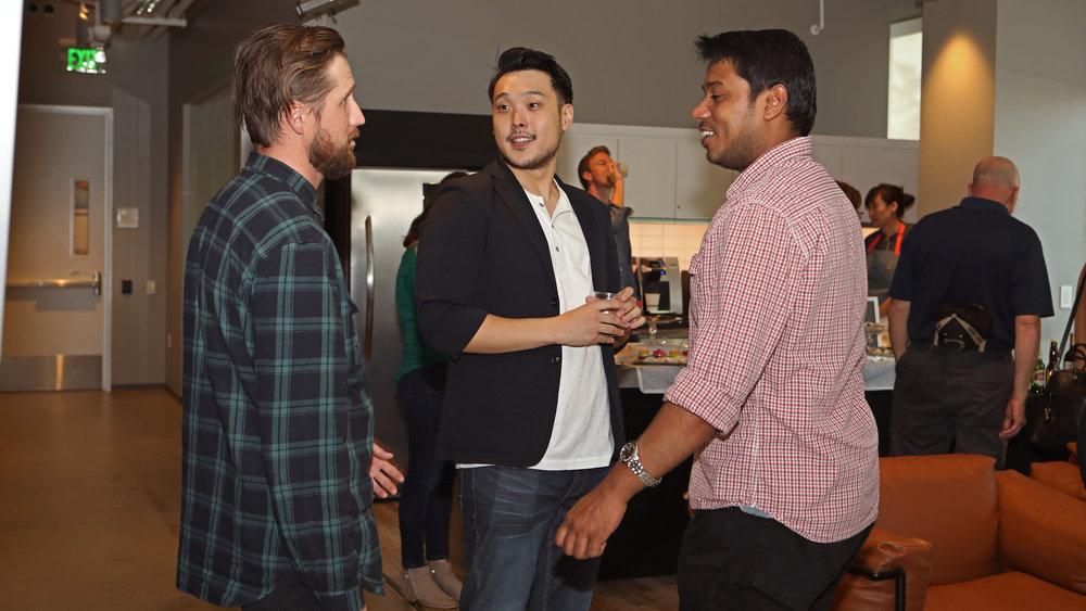 Junot talking to Corey & Ramesh.jpg