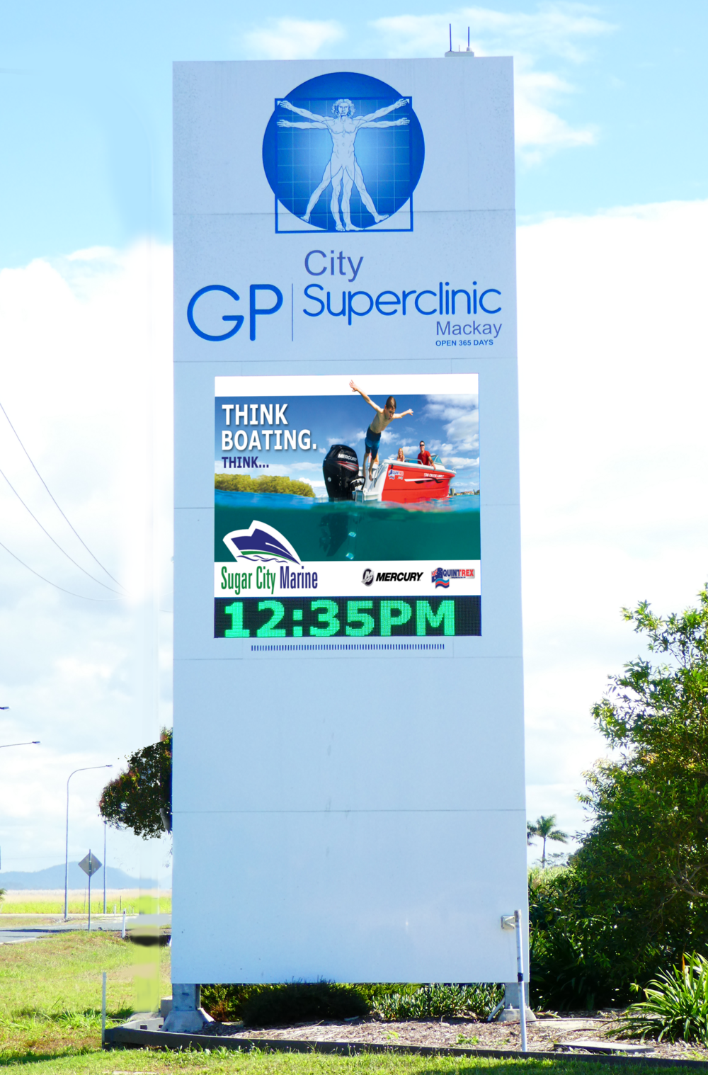 Ooralea - Site Information: GP Superclinic OoraleaLocation Boundary Road near major shopping Centre and UniversitySign Type         LED P10Direction         Inbound, Left-hand Double SidedTraffic Flow     12,000 Per Day