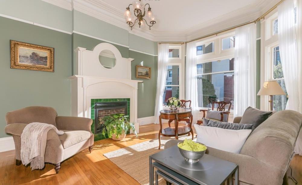 2128 Sutter Street - Living Room