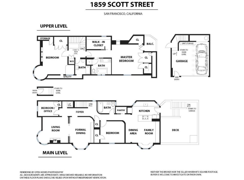 1859 Scott Street - Floor Plan