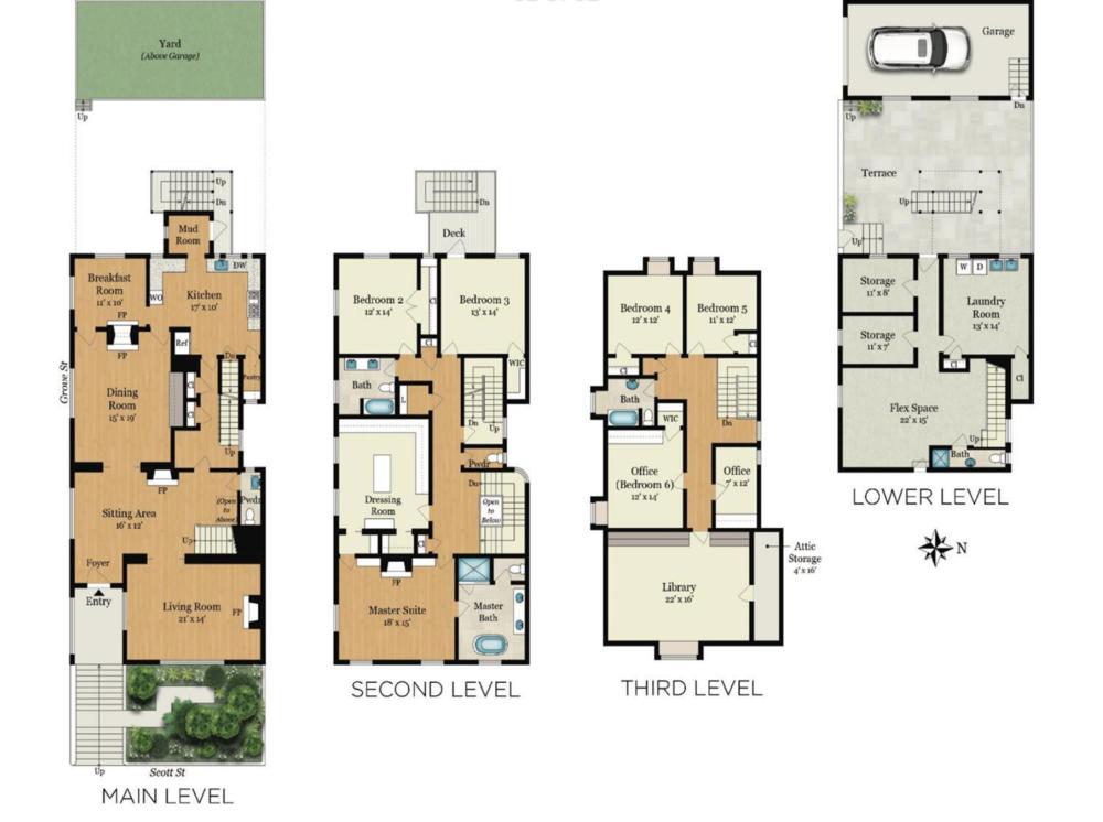 701 Scott Street - Floor Plan
