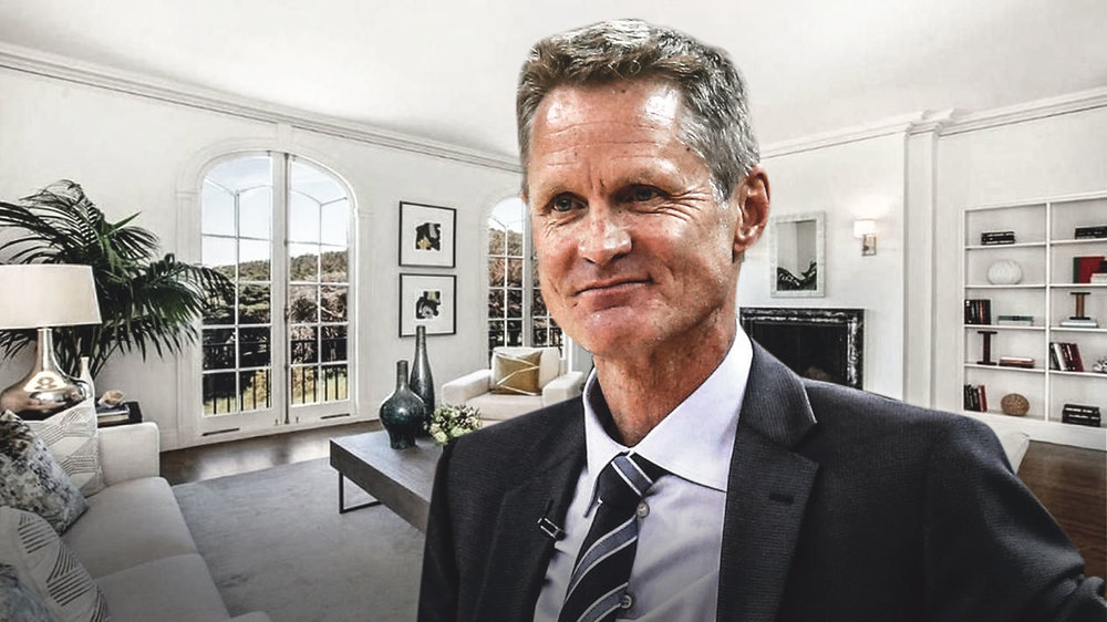 Steve Kerr buys a new home in Presidio Heights, San Francisco.