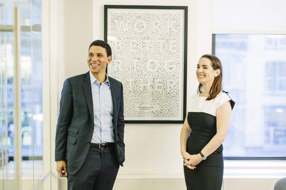Compass CEO Robert Reffkin with COO Maëlle Gavet.