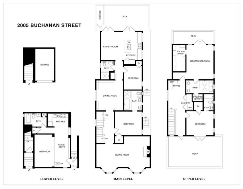 2005 Buchanan Street - Floor Plan
