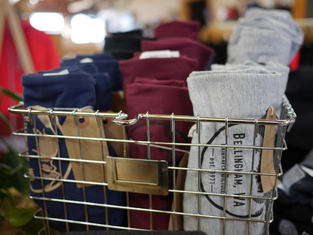 Bellingham, WA T-Shirts - Bella Canvas 100% CottonNavy/TanMaroon/BlackGrey/Black