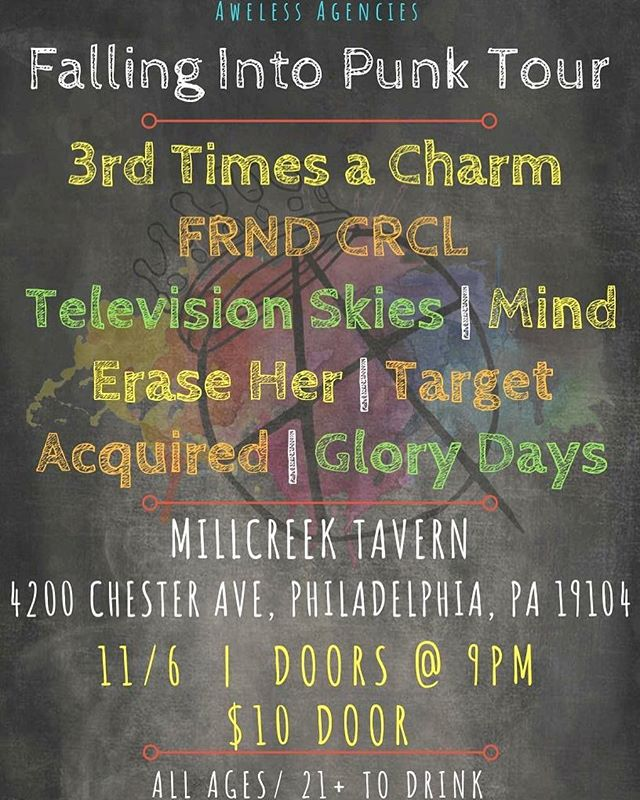 We have a bunch of shows coming up! Here's the flyer for 11/6 at Millcreek Tavern! #tour  #music #show #band #poppunk #punk #punkrock #newjersey #family #friends #phillymusic #philly #southjersey #localmusic #supportlocalmusic #localband #3tac