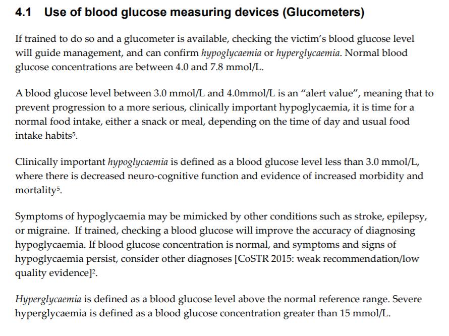 Exert from ANZCOR guideline 9.2.9