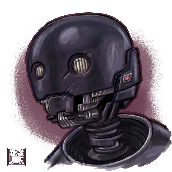 Since @starwars Rogue One is now out on digital I felt inspired to draw me some droid, specifically my favorite Star Wars droid, second only to maybe HK-47 from Knights of the Old Republic.