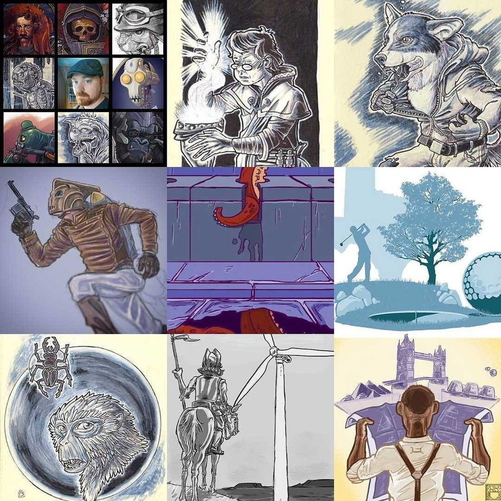 Apparently these are my #2016bestnine posts on Instagram. #art #drawing #workinprogress #golf #sketchbook #sketch #octopus #rocketeer #engineering #dungeonsanddragons #wizard #artistvsart #korgi #dog #dogs #werewolf #collage #maine #maineart #newengland (at City of Bath)
