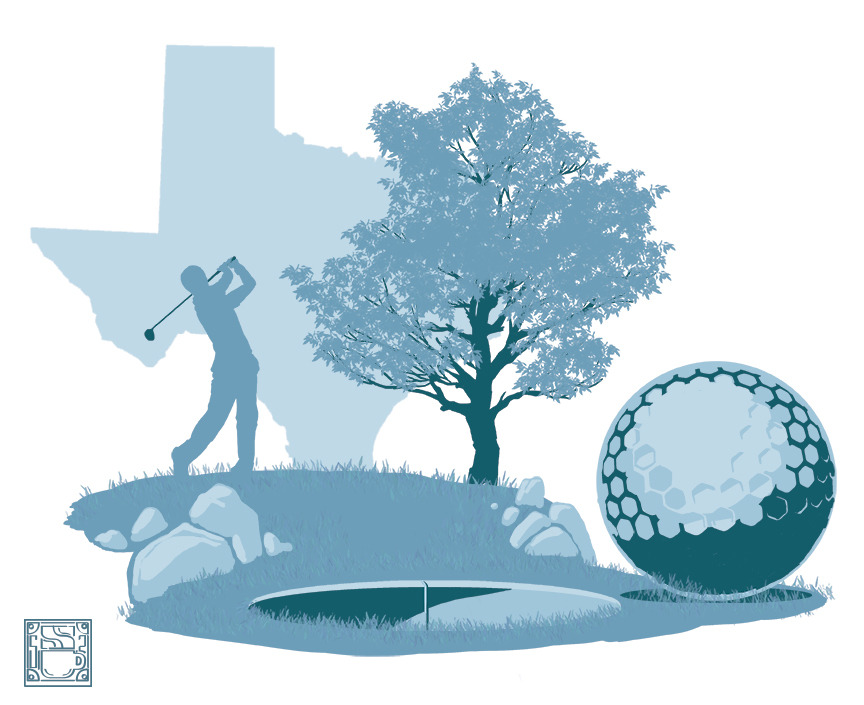 New work to go along with the blog entry I wrote for Skyline Civil Group and @sociallystunning. This one was about great Texas Golf locations.