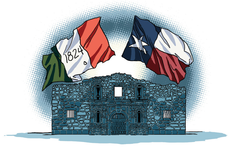 Spot illustration for a new blog entry I wrote for Skyline Civil Group about the Alamo. You can read the blog and the others I've written here. http://www.skylinecivilgroup.com/blog/