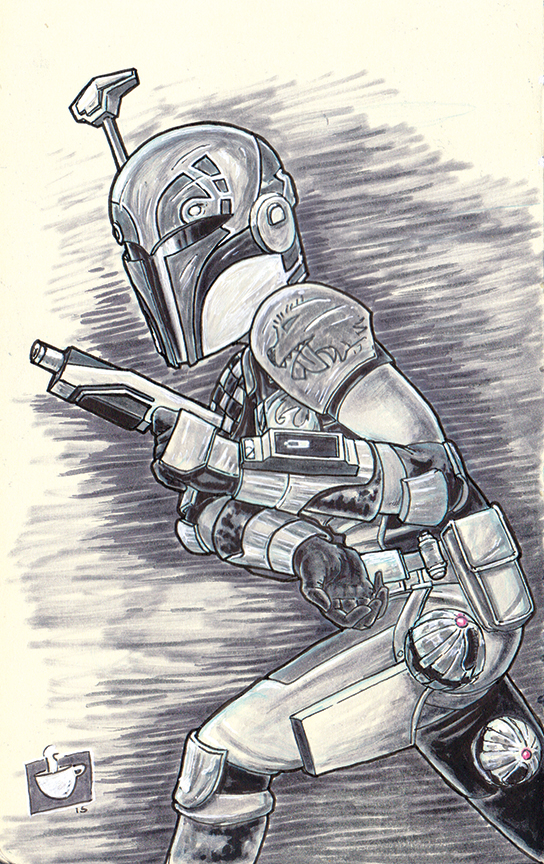 Decided to have a little fun with drawing Sabine from Star Wars Rebels leaving some presents for her fans.