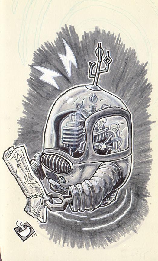 1960s Science Fiction GPS unit! Bubble Robots for Everyone.