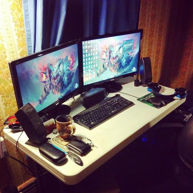 New monitor setup.