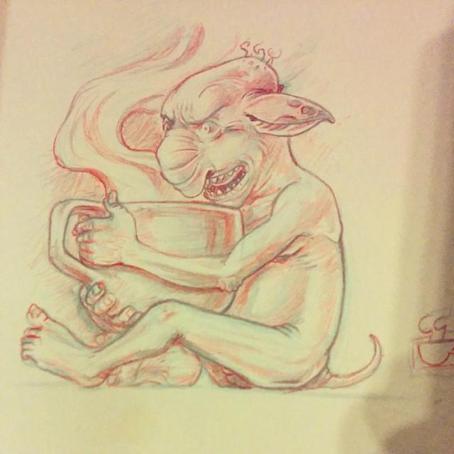 Coffee Goblin. (at Cafe Creme)