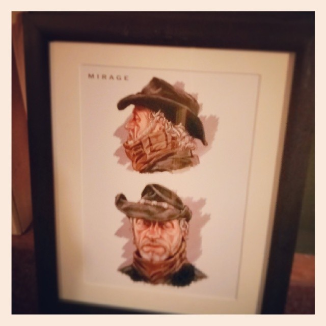 """Small prints matted and framed, will be hanging them later tonight or tomorrow at Cafe' Crème. These 4 smaller prints are 8.5"""" x 11"""" in 11"""" x 14"""" frames and are mostly examples of concept art, they will be on sale for $50 each."""