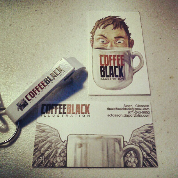 Promotion! Business cards and prototype bottle opener.
