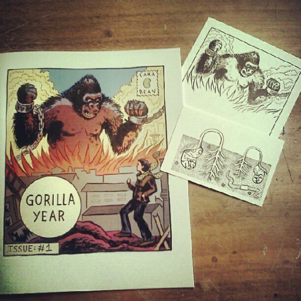 Issue one of Gorilla Year by Cara Bean, it's about the year she spent in Seattle drawing the gorillas in the Woodland Park Zoo. (Taken with instagram)