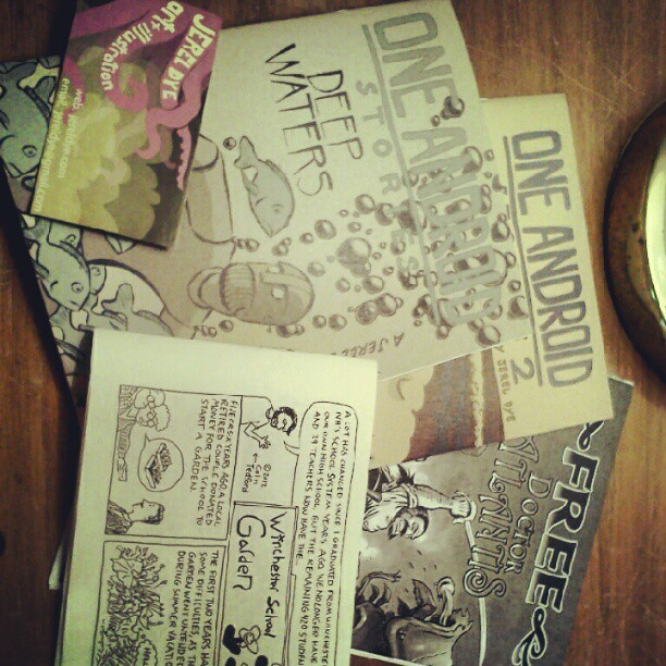 Mini-comics from Maine Comic Arts Festival. (Taken with instagram)