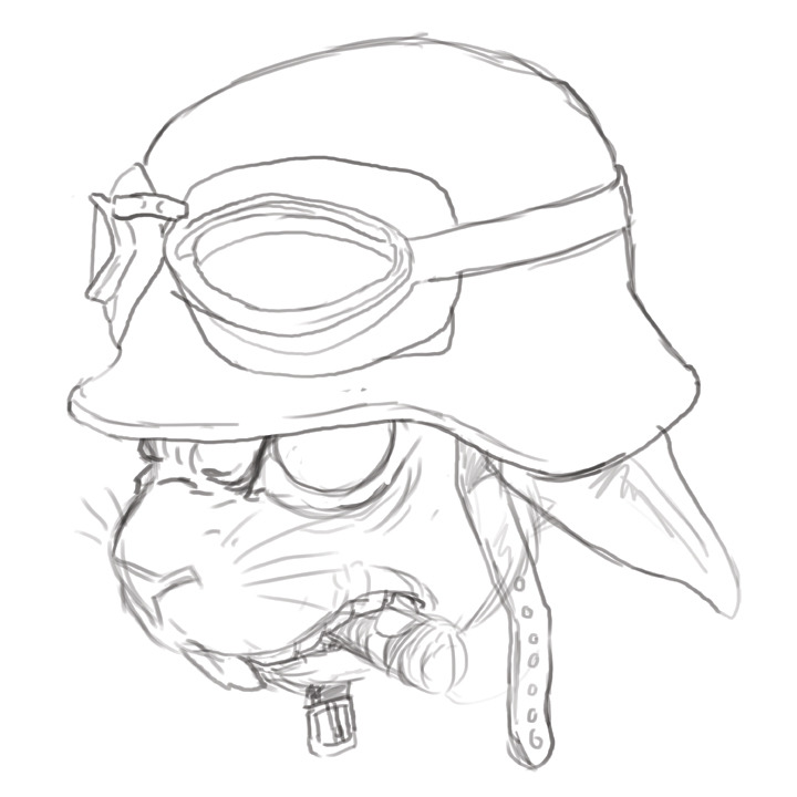 Work in progress for a decal design commission.