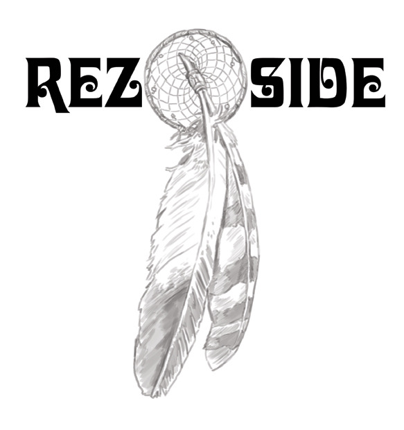 Under Drawing rough layout for logo design variation I did for Rez Side, a new t-shirt company working mainly out of the Native American community.