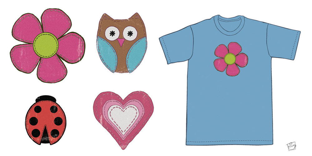 """""""Tullie Girl - Shirt Designs"""" digital paint in Adobe Photoshop ©2011 Carol George Commission T-Shirt art for Tullie Girl, LLC, all copyrights are the property of Carol George and Tullie Girl, LLC."""