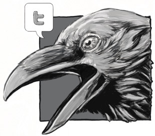 Custom Twitter button for website I am working on for my portfolio.