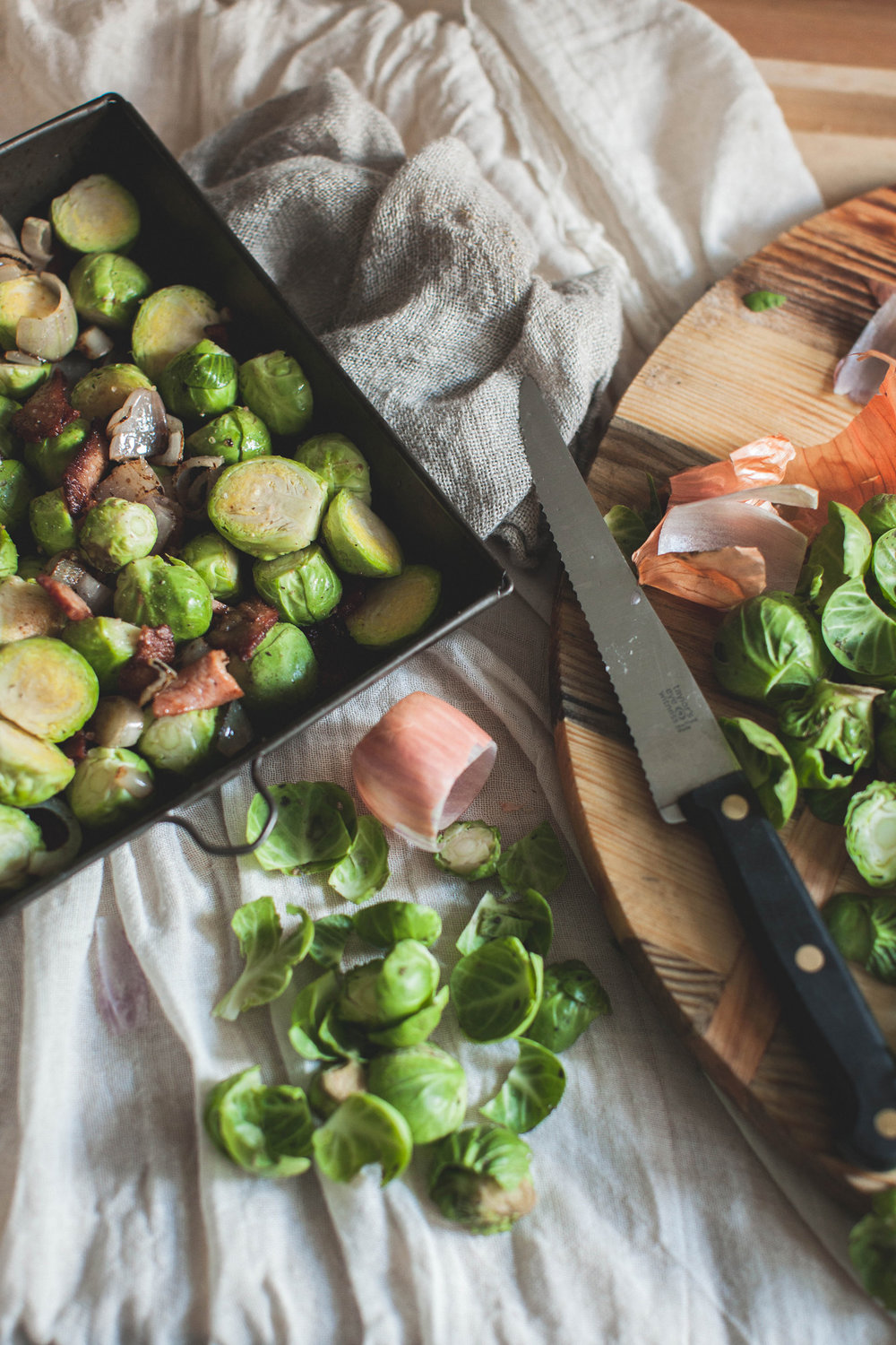 Brussell Sprouts with bacon - a simple Sunday recipe on Retreat // Food and lifestyle blog