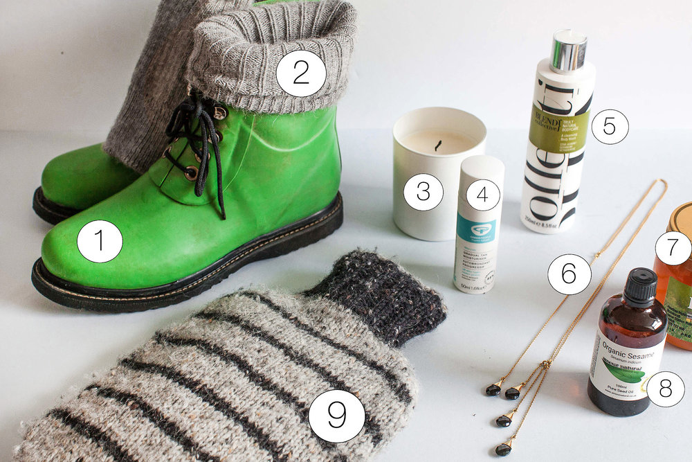 My winter survival list - natural and sustainable products to wear and to have in the home. Retreat - a food and lifestyle blog based in Sussex.