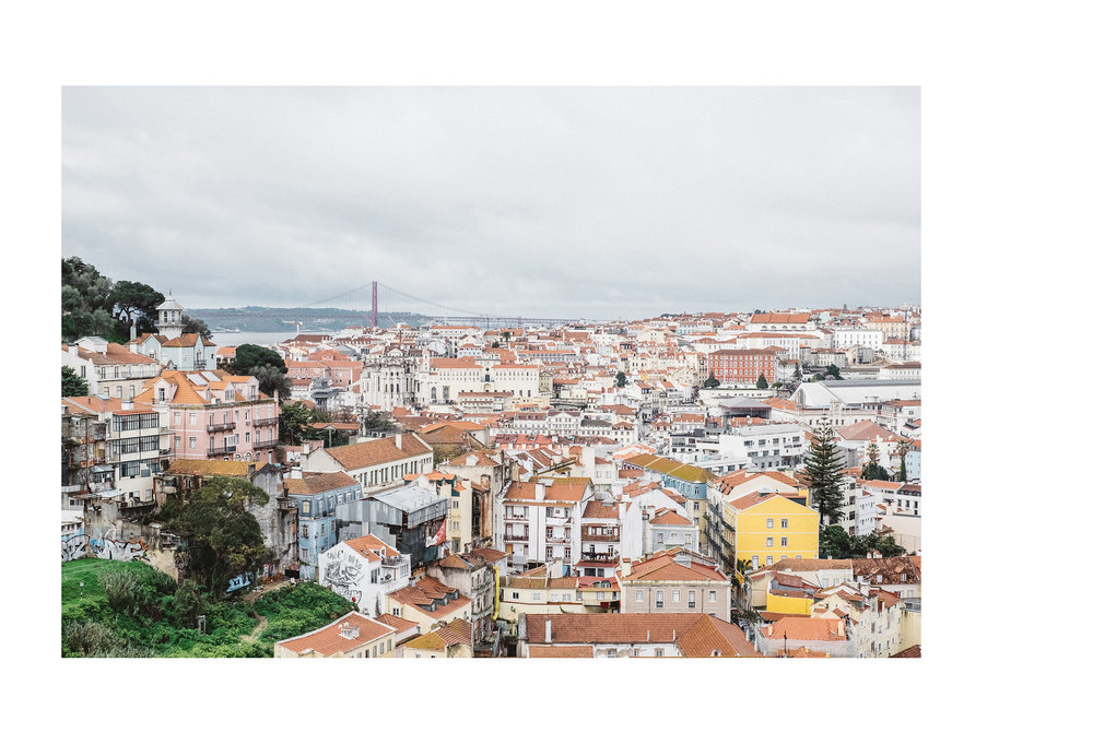 The view from Viewpoint Sophia de Mello Breyner Andresen also known as Miradoura da Graca, LIsbon
